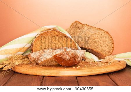 Bread loaf and wheat