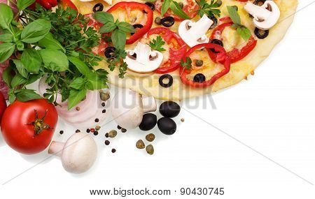 Supreme Pizza with vegetables