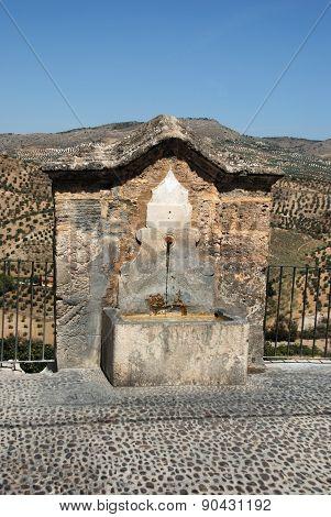 Stone drinking fountain, Priego de Cordoba.