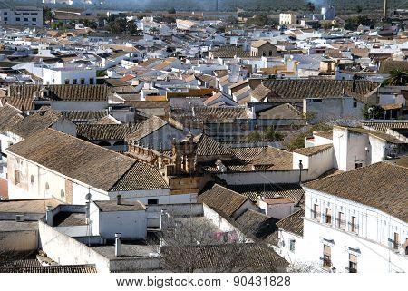 Osuna town rooftops.