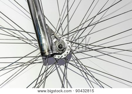 abstract part of fixed gear bicycle