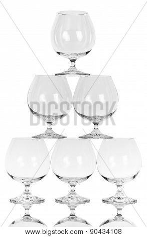 Empty cognac Glasses