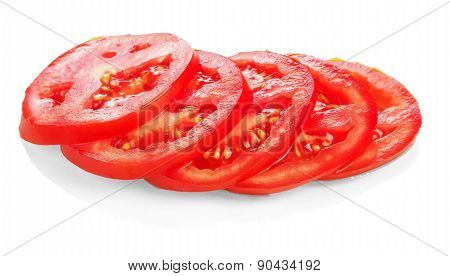 Red sliced tomato