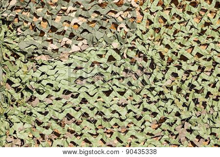 Camouflage Net For Masking Of Green Color
