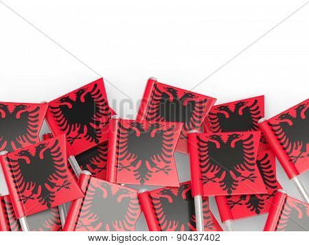 Flag Pin Of Albania