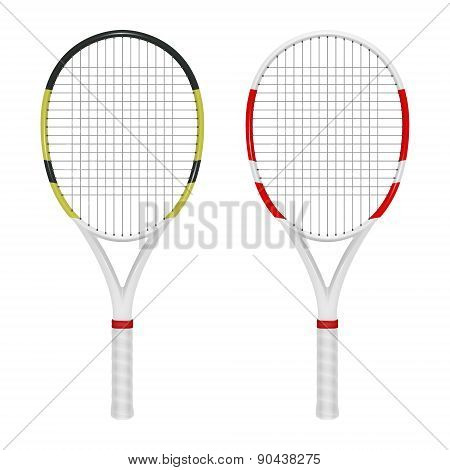 Two Tennis Combinated Rackets