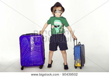 Young Traveler Posing.