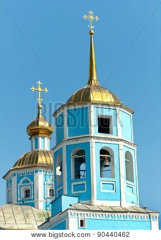 Orthodox Smolensky Cathedral. Belgorod City, Russia.