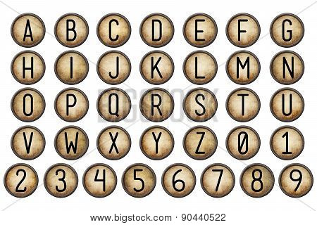 Backspace Typewriter Key Alphabet