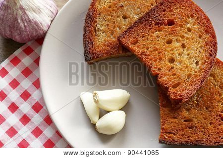 Fried Bread And Garlic