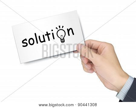Solution Card In Hand