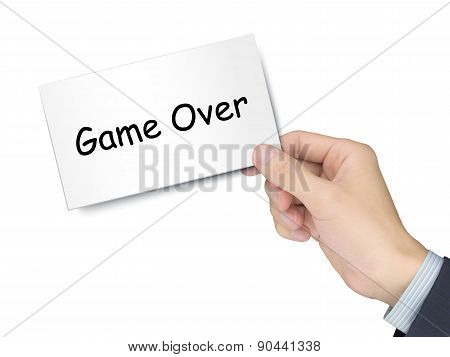 Game Over Card In Hand