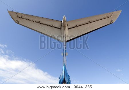Tail Of An Airplane And Blue Air