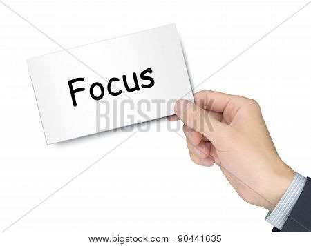Focus Card In Hand