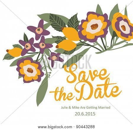 Save The Date Card / Wedding Invitation