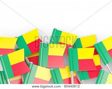Flag Pin Of Benin