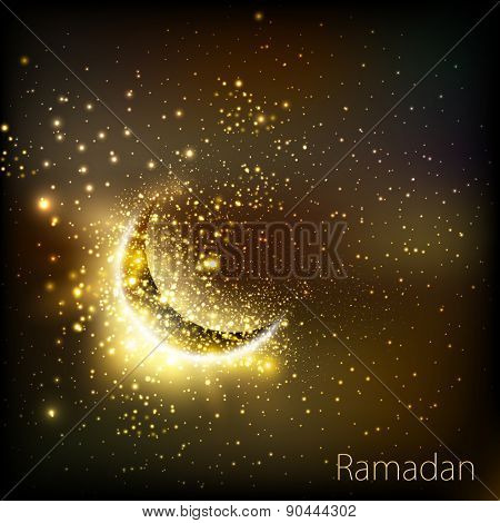 Muslim community golden cover of ramadan, easy editable