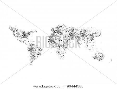 World map EPS 8 vector, easy all editable