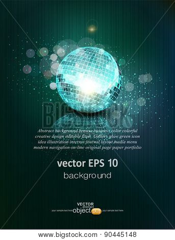 vector background with a mirror ball and reflection