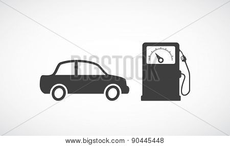 fuel gas station icon and car design