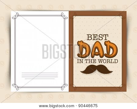 Beige color greeting card design with text