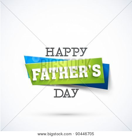 Stylish sticky with text Happy Father's Day.