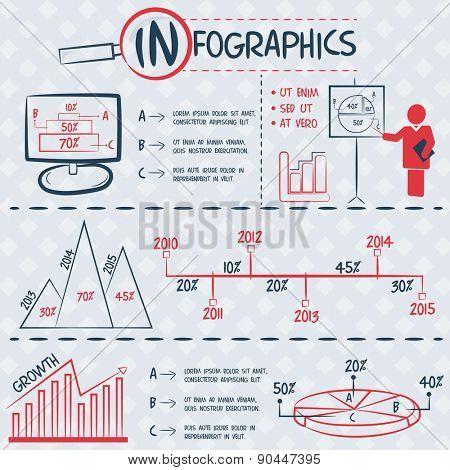 Collection of various infographics elements for your business and corporate needs.