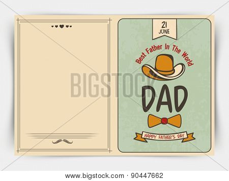 Happy Father's Day celebrations greeting card design with stylish text