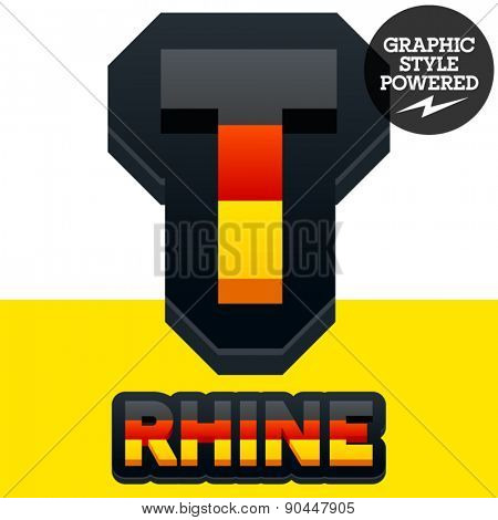 Vector set of Germany flag 3D alphabet. Letter T