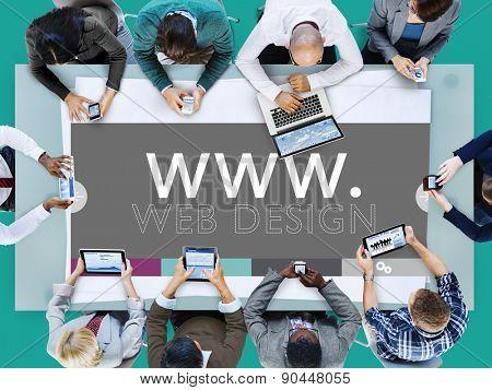 Web Design Web WWW Development Internet Media Creative Concept