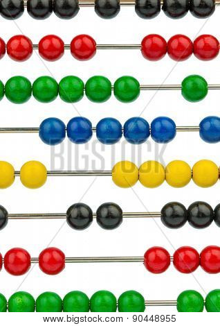 abacus with colored beads, symbolic photograph of finance, costing and accounting