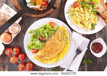 omelet,fried egg,scrambled egg