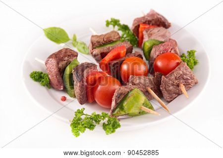 grilled beef and vegetable