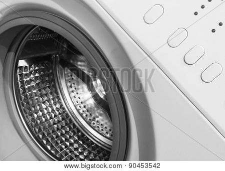 Washing machine, close-up