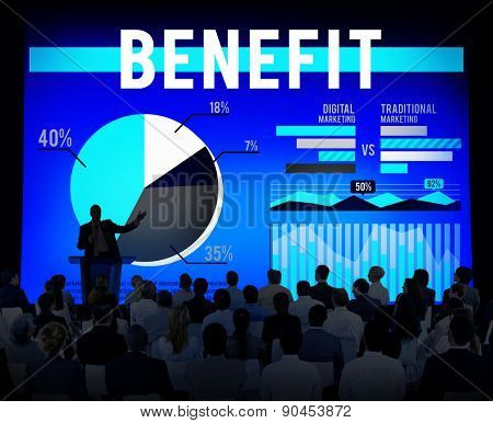 Benefit Profit Income Solution Strategy Marketing Concept