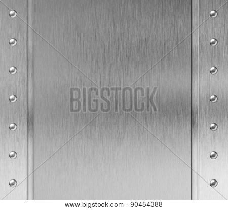 metal frame with rivets background