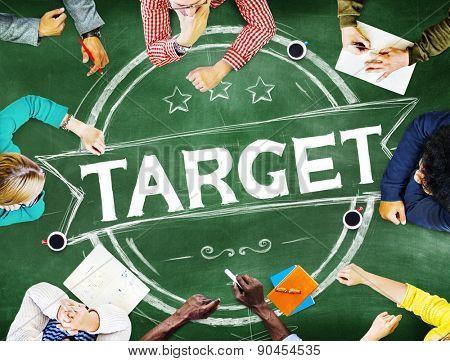 Target Badge Banner Advertising Business Marketing Concept