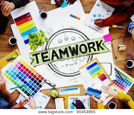 Teamwork Team Collaboration Cooperation Connection Concept