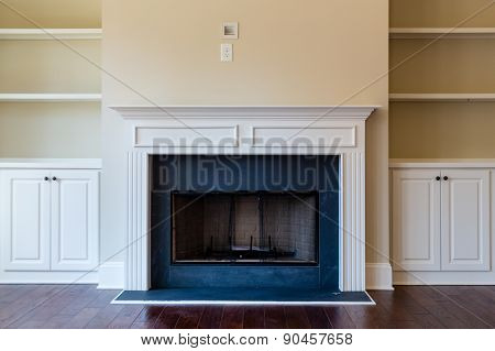New Fireplace On Hardwood Floor