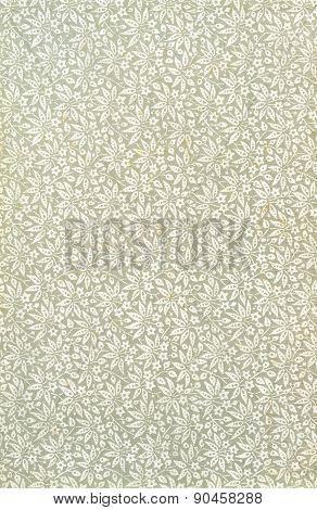 Old floral pattern paper