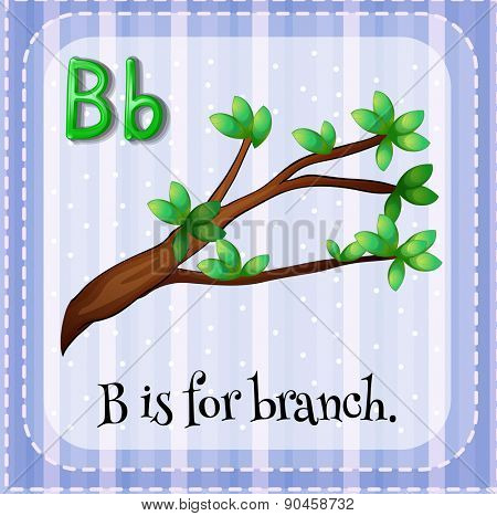 English flashcard letter B is for branch