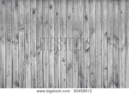 black and white wooden background, old gray wall, vector