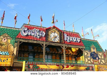 Coquitlam, BC, Canada - April 09, 2015 : People having fun at the West Coast Amusements Carnival