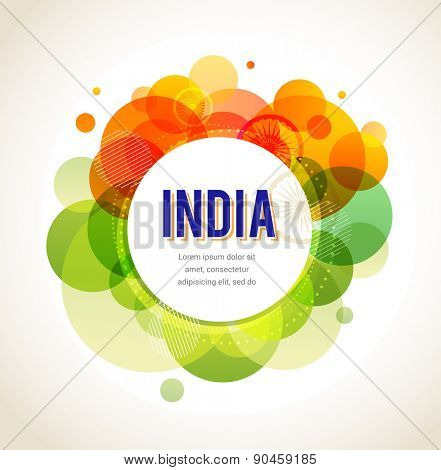 Independence and Republic Day of India. Vector background