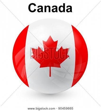 canada official flag, button ball