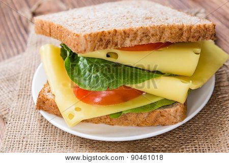 Fresh Made Cheese Sandwich