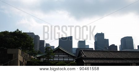 Architecture mixture of pagodas and skyscrapers