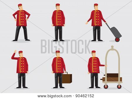 Porter Vector Cartoon Character