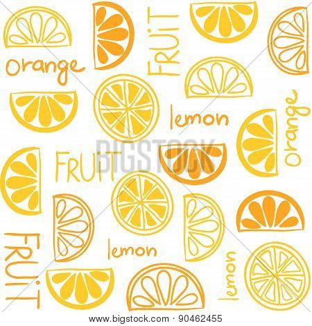 Citrus Fruit Seamless Pattern