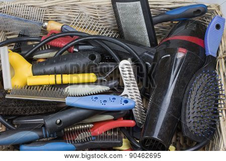 Used Tools And Supplies For Dog Grooming